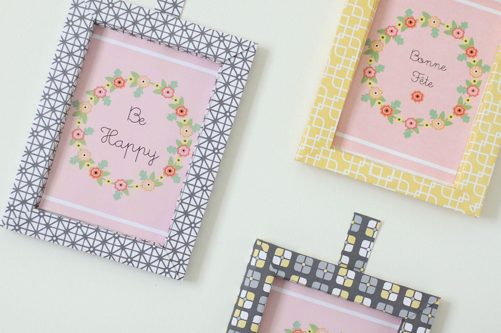 Cadres en papier pour carte à imprimer