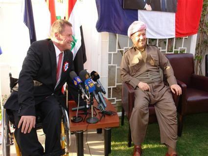 Rédéric Tissot et Massoud Barzani /