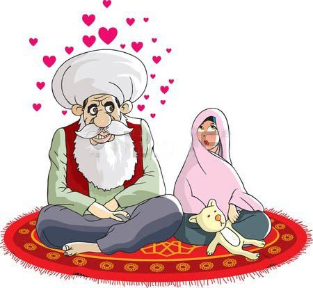 Le mariage de Mahomet avec Aicha fillette de 9 ans