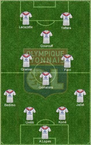L'Equipe Type lyonnaise pour la saison 2014-2015.