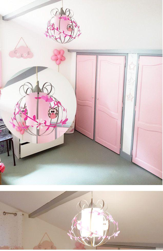 lustre chambre fille chouette deco