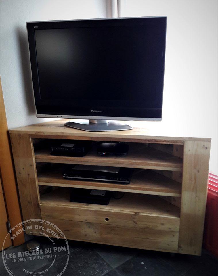 meuble tv d angle en bois de palette