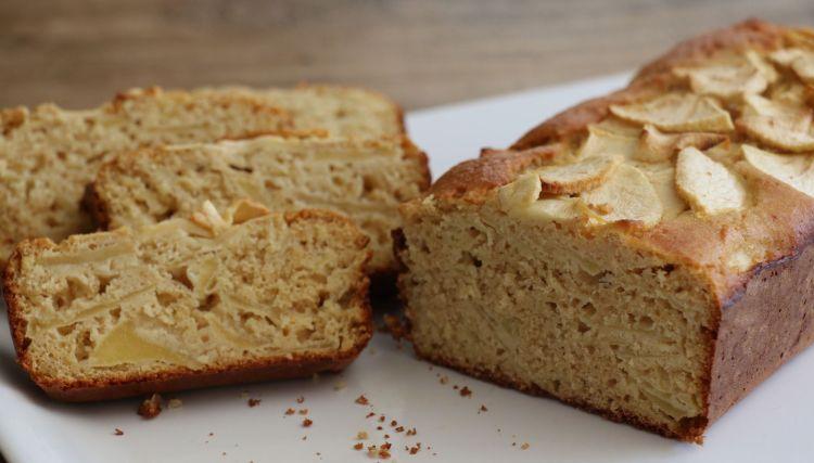 Gâteau léger pomme-avoine, pauvre en gluten, IG bas