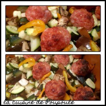 Boulettes curry aux petits légumes