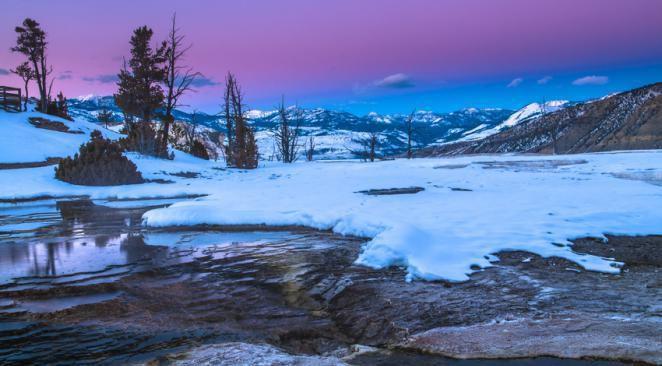 Un hiver volcanique dans le parc de Yellowstone