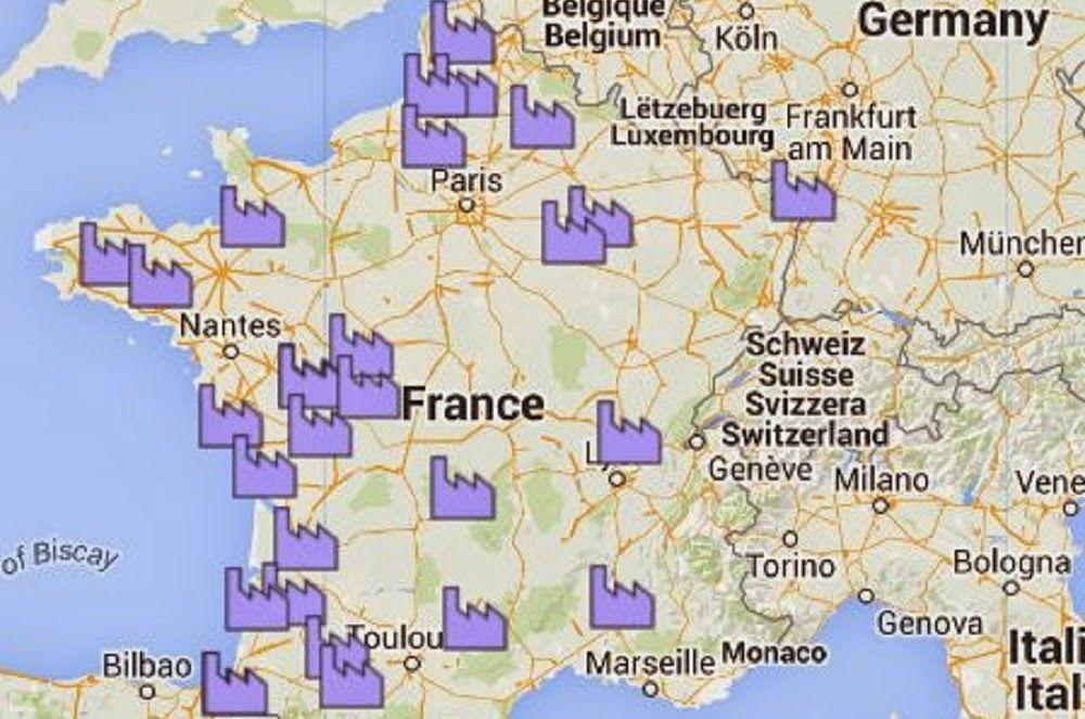 France: carte interactive des projets des Mega-fermes-usines à venir