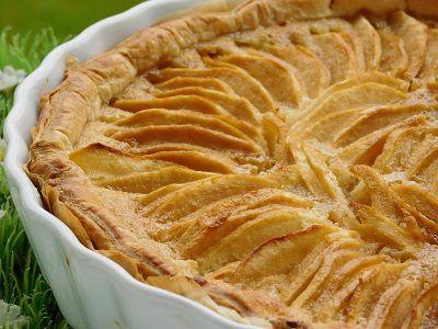 tarte aux pommes et sa creme d amande