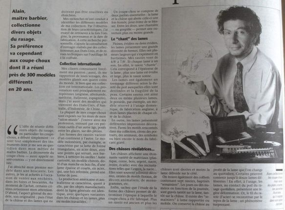 Article &quot&#x3B;La vie du collectionneur&quot&#x3B; - Avril 1998