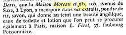 Savon Moreau &amp&#x3B; fils