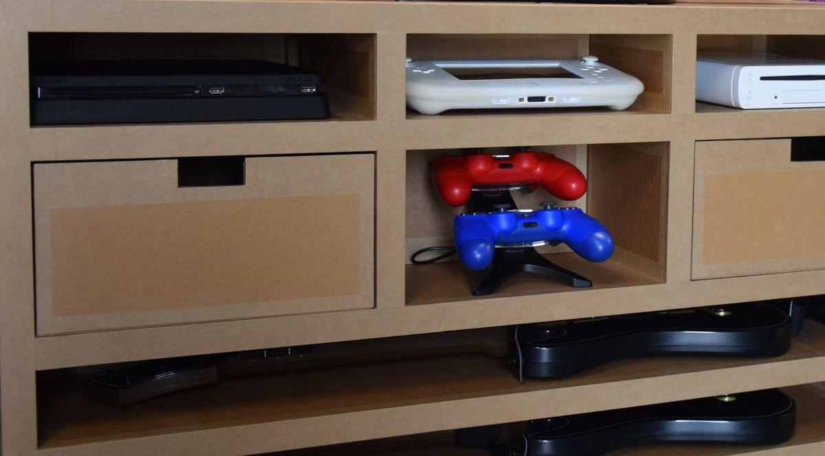 malles jeux videos meubles en carton