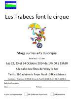 Les trabecs font leur cirque, stage de cirque pour les 5/12 ans le 22/23/24 Oct à Villey le sec
