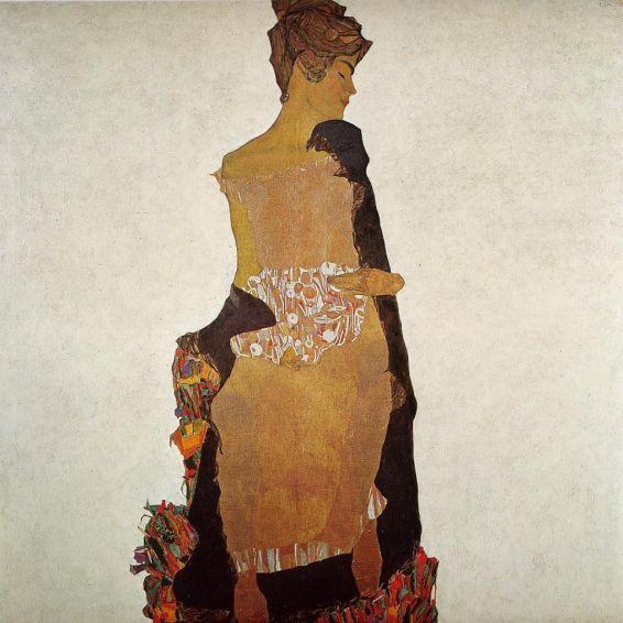 """Résultat de recherche d'images pour """"Portrait de Gerti Schiele """", sa soeur, qu'il peint en 1909"""""""