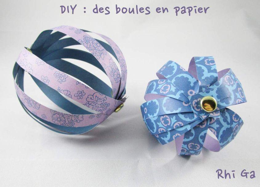 NOEL : des boules en papier