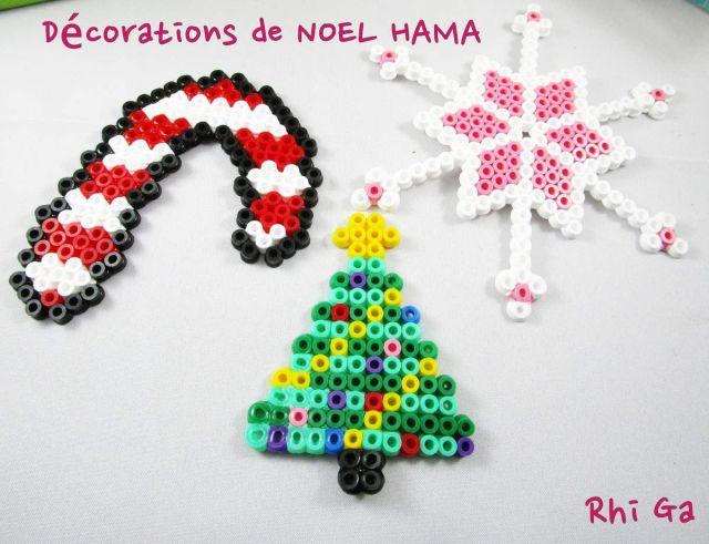 Des décorations en perles HAMA pour NOEL