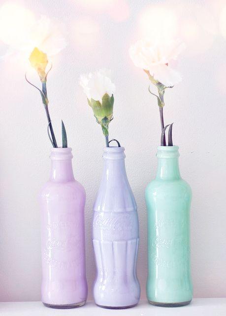 DIY : des vases colorés