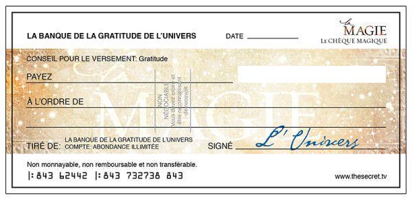 chèque d'abondance