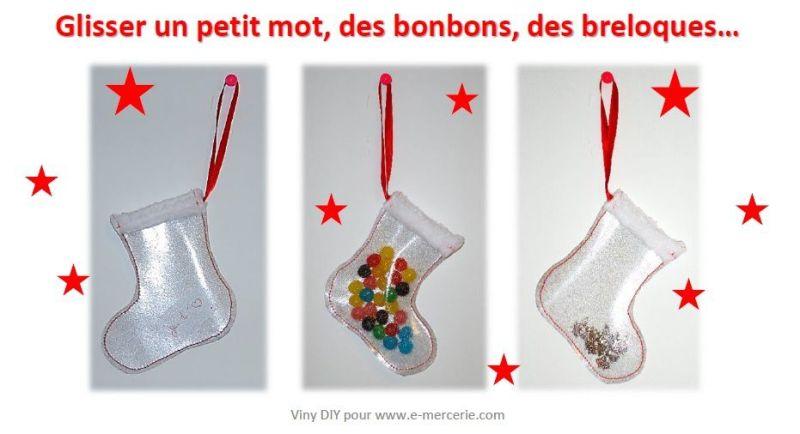 Botte de Noël en cristal pailleté