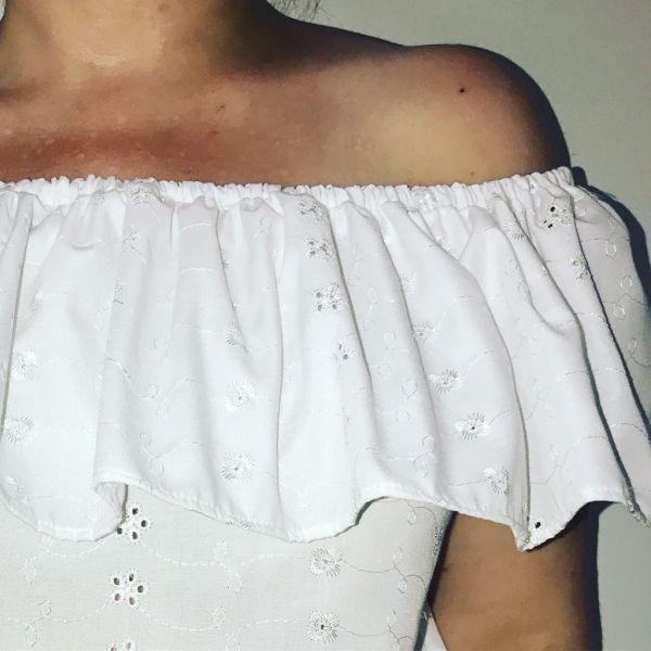 Coudre un Top Bardot - T-shirt à Volant - Tuto Couture DIY ⋆ Les ... 24d78c97190