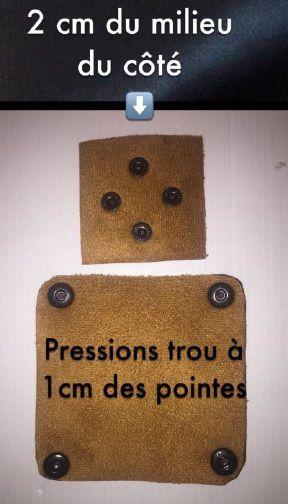 Porte Monnaie avec Pressions - Tuto DIY sans couture