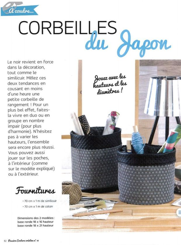 Panière Ronde Multi-Poches - Tuto PDF et Vidéo