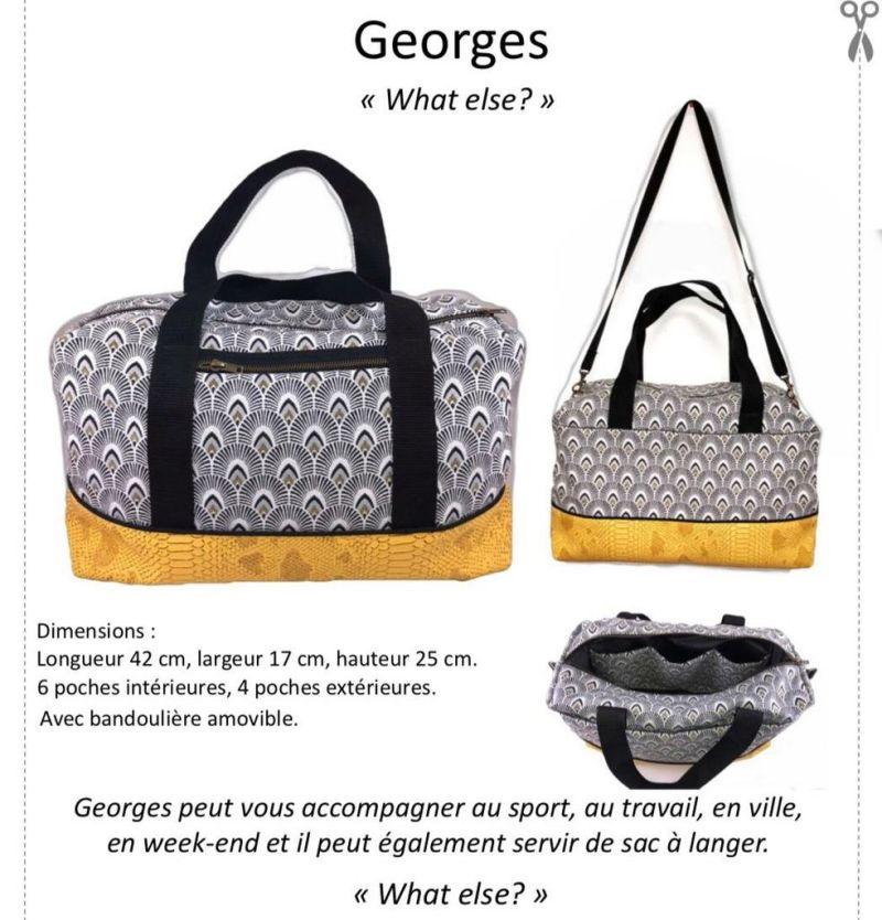 Georges - Le Sac Indispensable - Tutoriel et Patron Couture