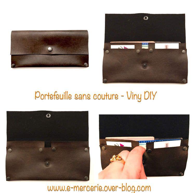 Portefeuille sans Couture - Tutoriel DY