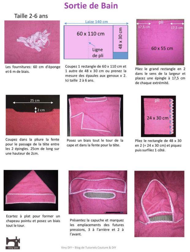 Sortie de Bain Piscine ou Plage - Tutoriel Couture