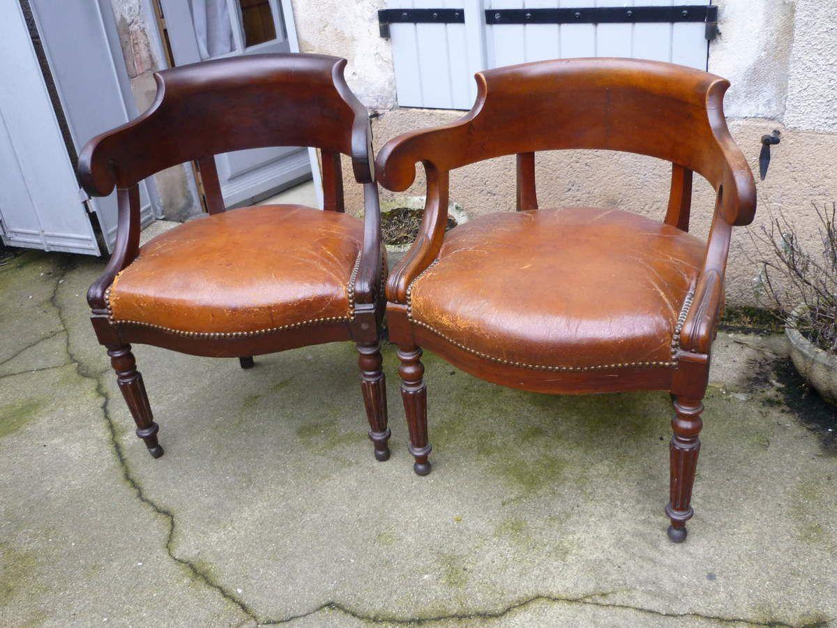 paire de fauteuils louis philippe a vendre