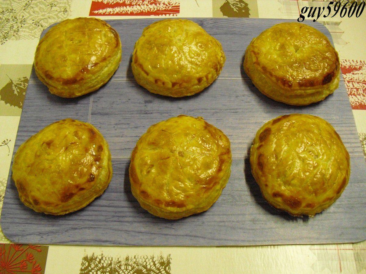 feuilletés aux deux fromages et jambon