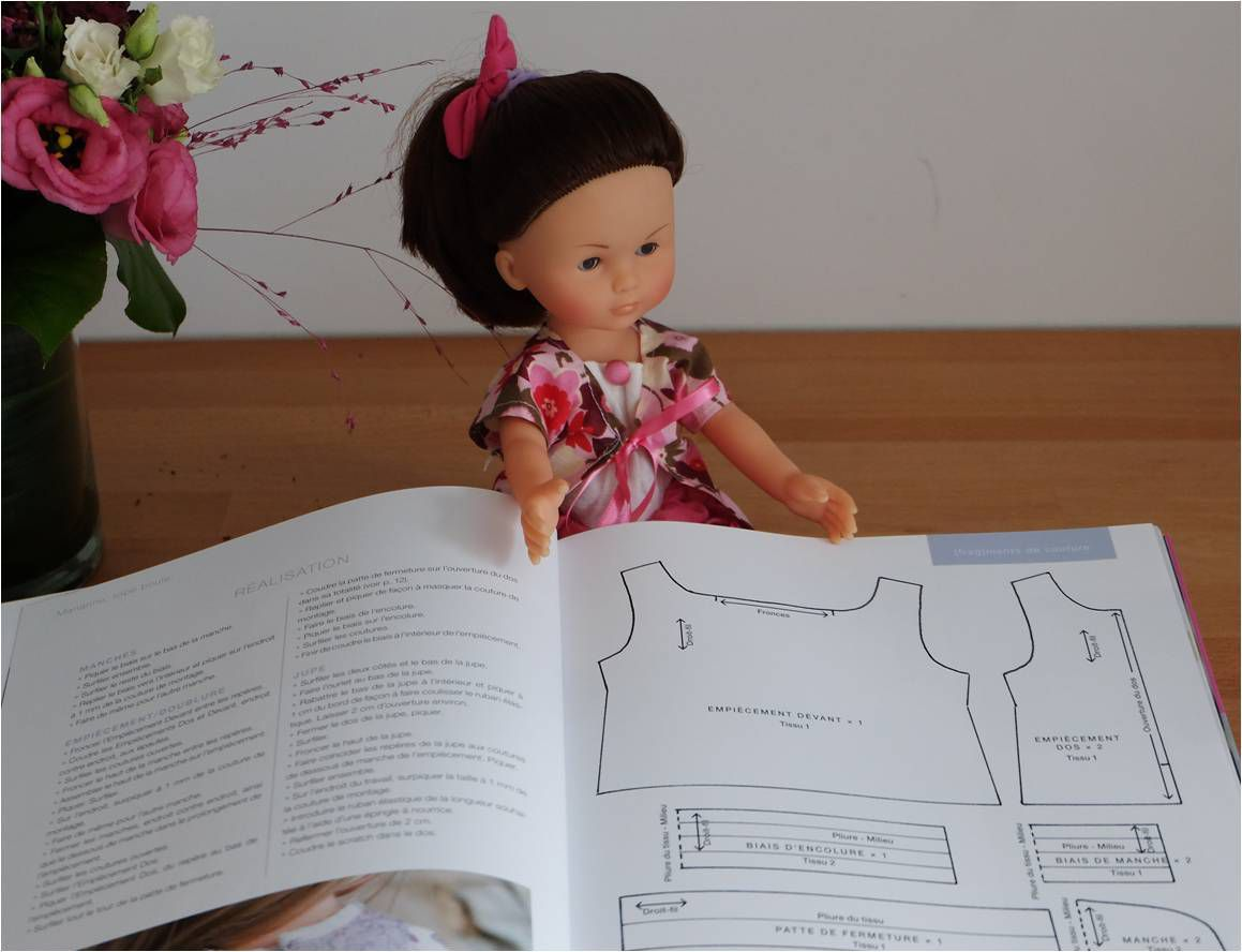 Couture : robes pour les poupées Corolle Chéries