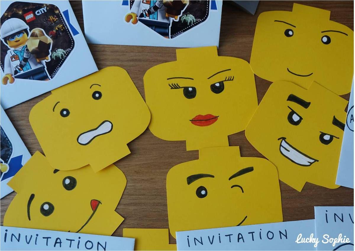 anniversaire lego invitation jeux et