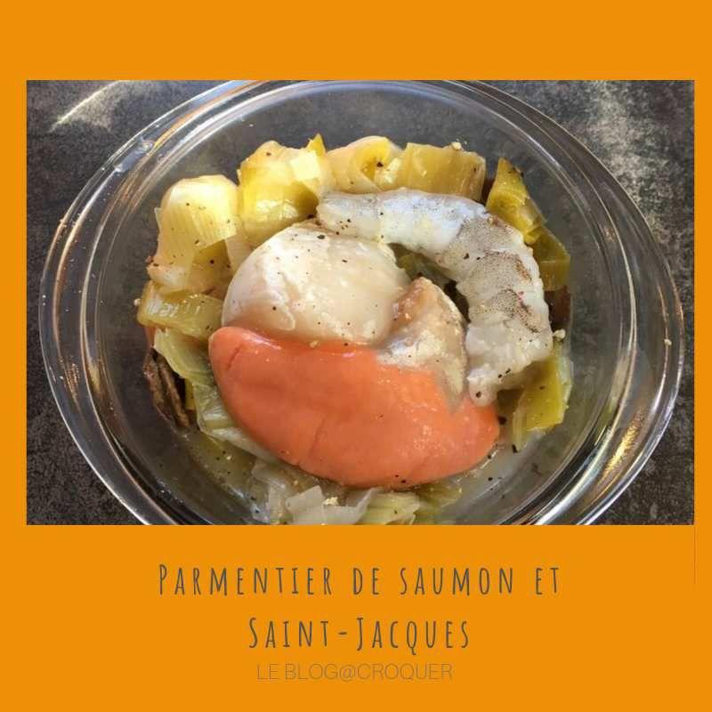 parmentier de saumon et noix de st