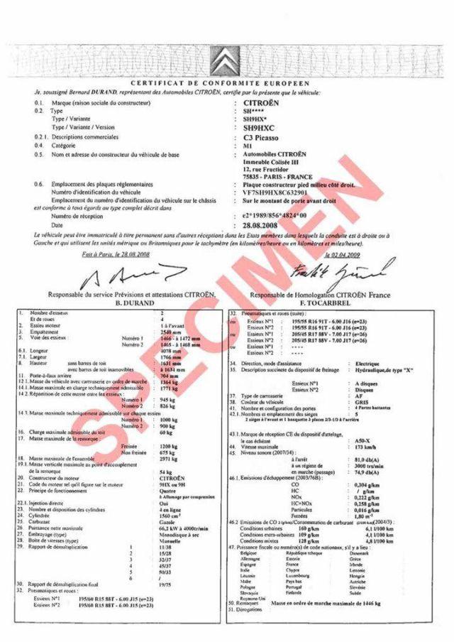 Certificat de conformité européen gratuit