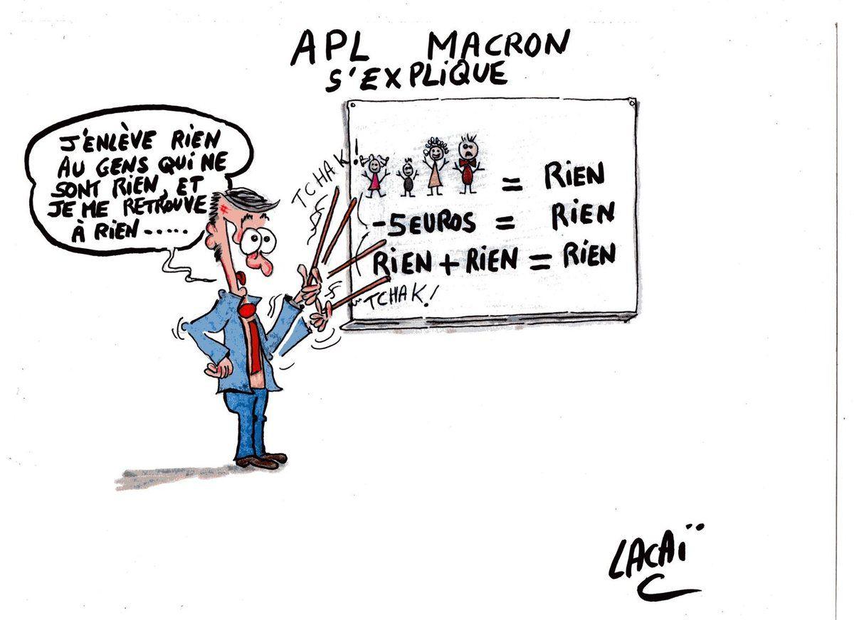 macron baisse les apl...