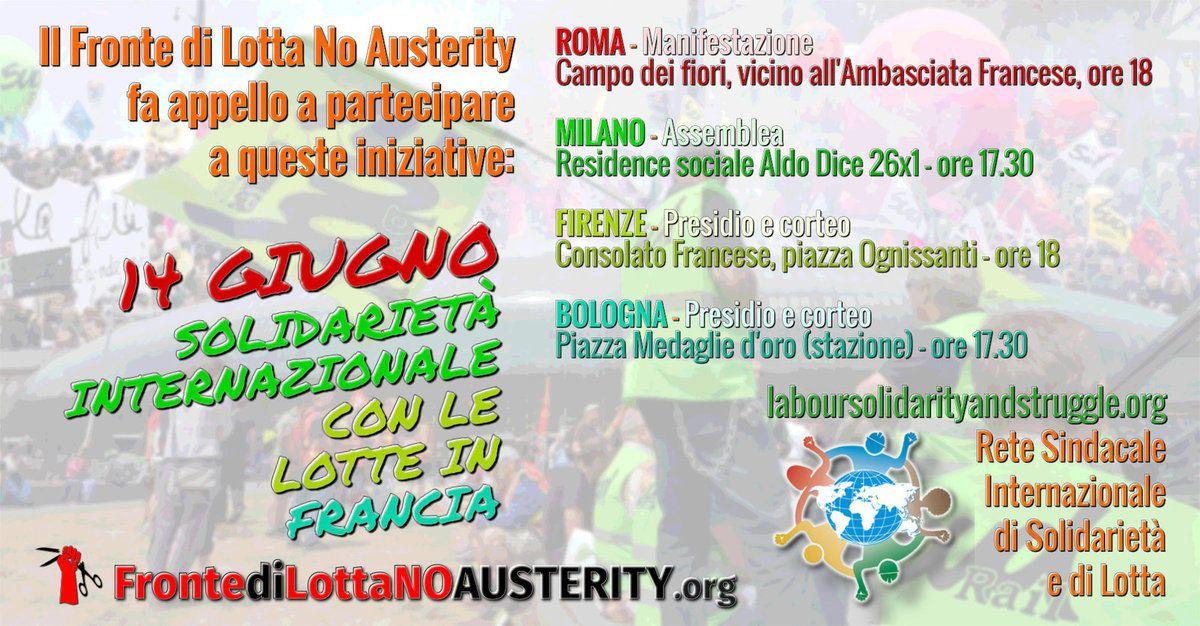 En Italie aussi, les salariés sont solidaires de la lutte sociale en France