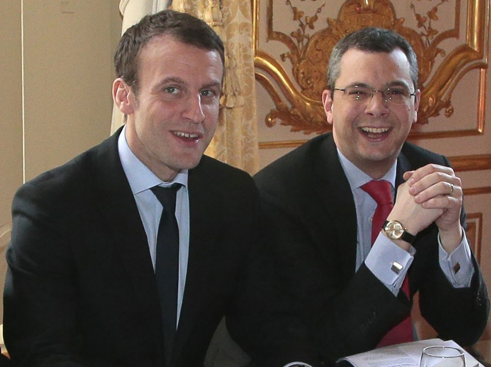 """Résultat de recherche d'images pour """"Gianluigi Aponte, PDG de MSC et Emmanuel Macron en mai 2017 à Saint-Nazaire. © Reuters"""""""