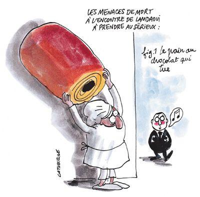 Dessin paru dans Charlie Hebdo lors de l'affaire Lamdaoui