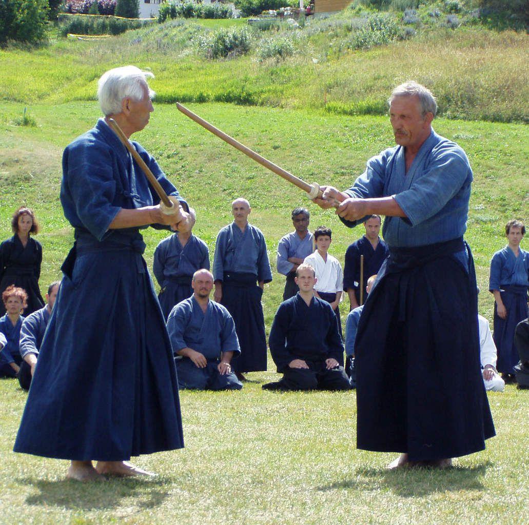 Shinto ryu Kenjutsu, Nishioka Tsunemori senseï et Pascal Krieger