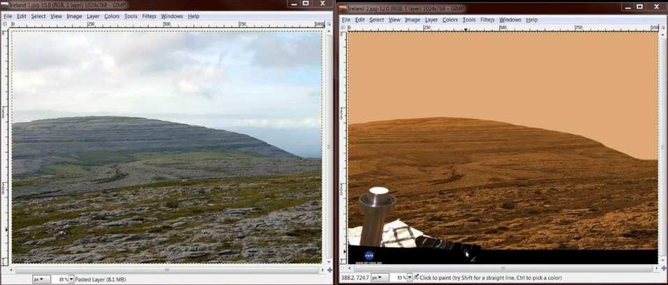 Quand la NASA nous enfume avec les photos Martienne de la Terre… !