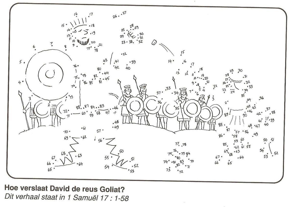 David Et Goliath Points A Relier Bible En Famille