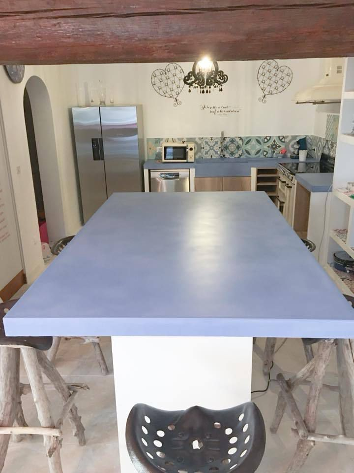 la cuisine beton plan de travail