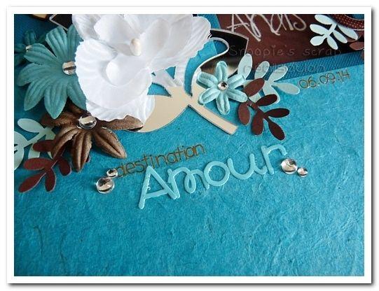 Livre d'or Anaïs & Alexis - turquoise & chocolat - îles/exotique
