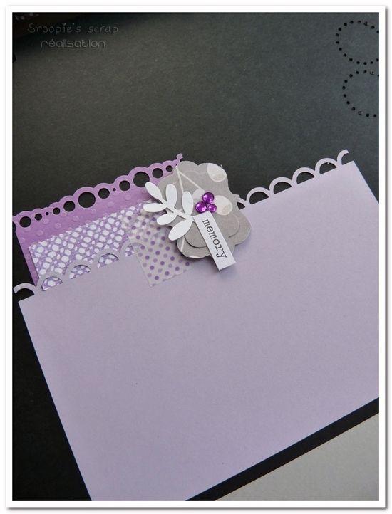 Livre d'or Cécile & Anousith - parme, violet, argent & blanc