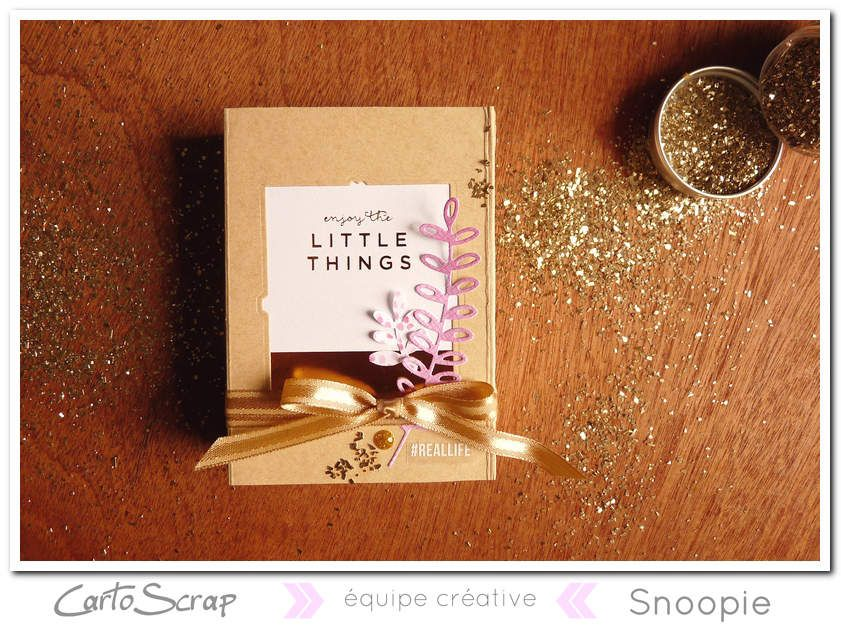 Cartoscrap - tuto - mini-album Little things