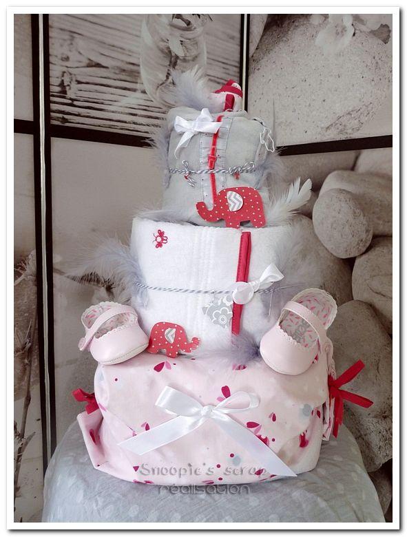 Gâteau de couches Pauline - 1ère rencontre avec ma filleule