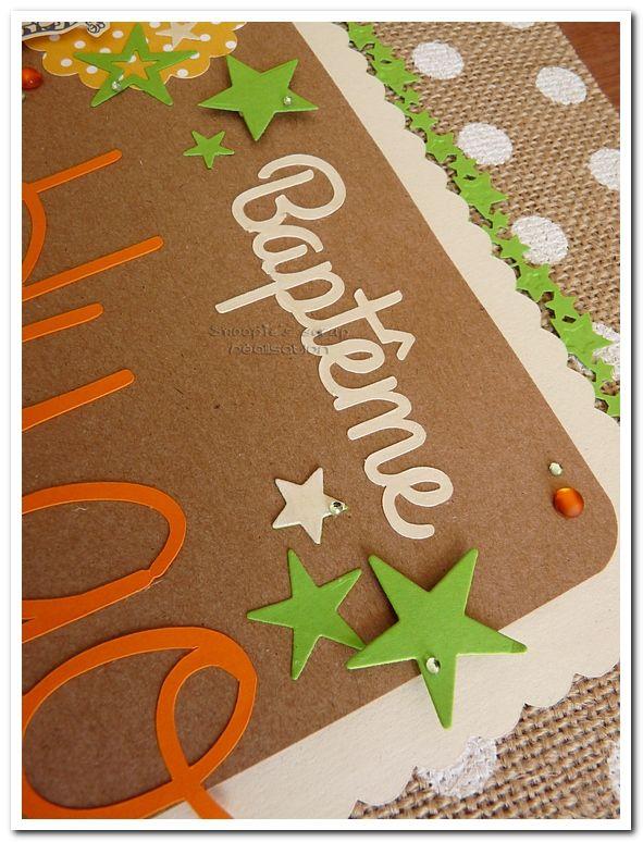 Livre d'or de baptême d'Hugo - Orange, vert & quelques touches neutres - Tigrou