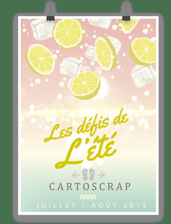 Cartoscrap - Les défis de l'été - 2 pages