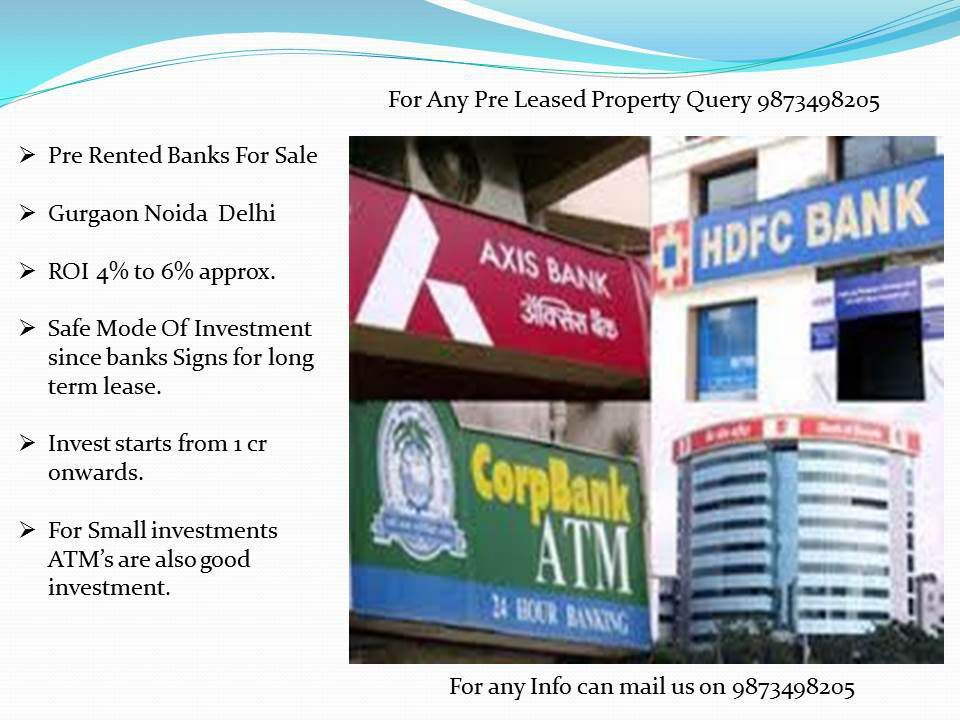 Pre-Leased Property for sale in delhi, pre rented property in delhi