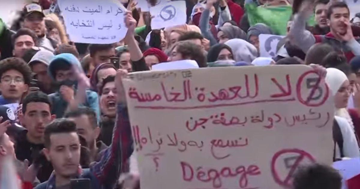 Le peuple algérien demande le départ de Bouteflika et de tout le régime. DR.