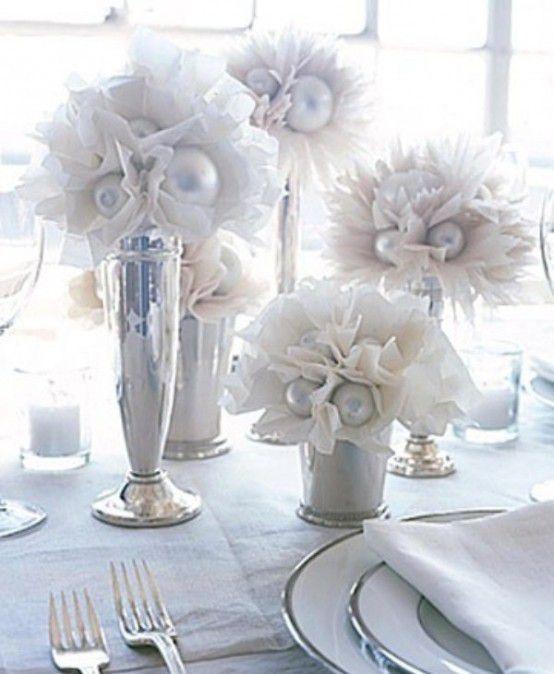 centre de table mariage hiver decoration
